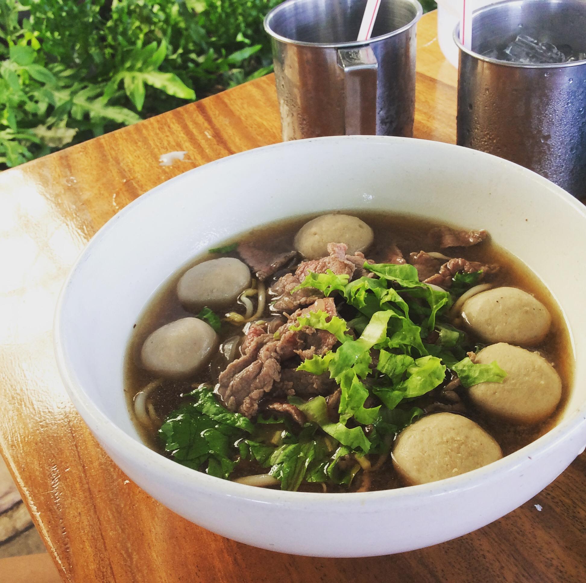 THai food noodle soup